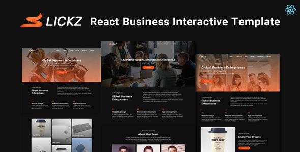 Slickz - React Business Interactive Template - Business Corporate