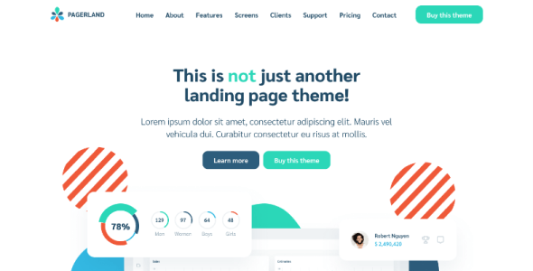 Pagerland - React and Gatsby Landing Page Templates