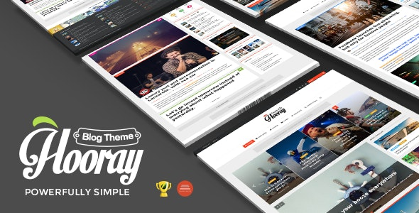 Hooray — Blog WordPress theme for Professional Writers - Personal Blog / Magazine