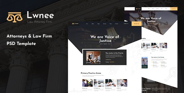Lwnee - Attorneys & Law Firm PSD Template