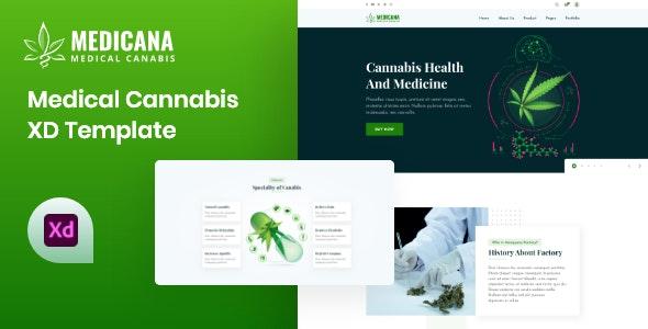 Medicana - Medical Cannabis XD Template - Health & Beauty Retail