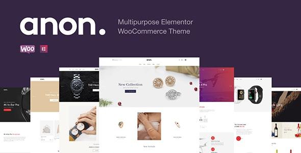Anon v2.0.6 – Multipurpose Elementor WooCommerce Theme