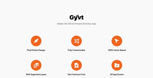 Gyvt - Adobe XD Gift & Present Delivery App