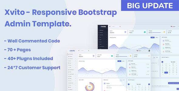 Xvito - Responsive Bootstrap Admin Dashboard Template - Admin Templates Site Templates