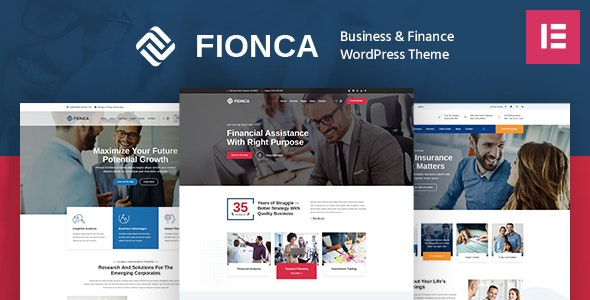 Fionca - Business & Finance WordPress Theme - Business Corporate