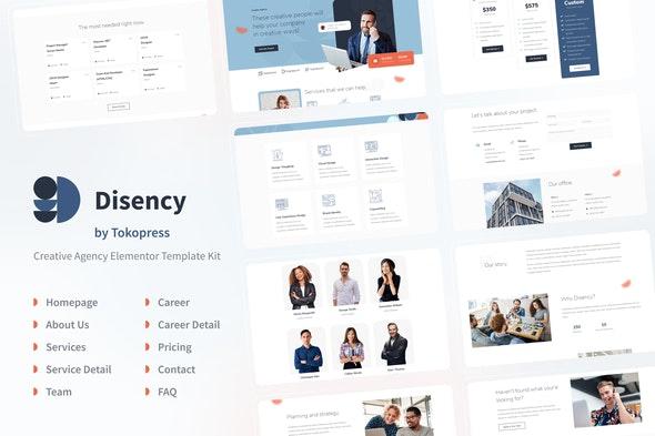 Disency | Agency Elementor Template Kit - Travel & Accomodation Elementor