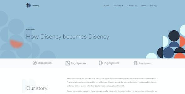 Disency | Agency Elementor Template Kit