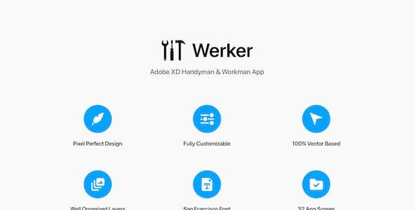 Werker - Adobe XD Handyman & Workman App