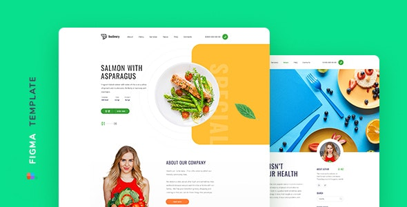 Foolivery – Health Food Template for Figma - Restaurants & Cafes Entertainment