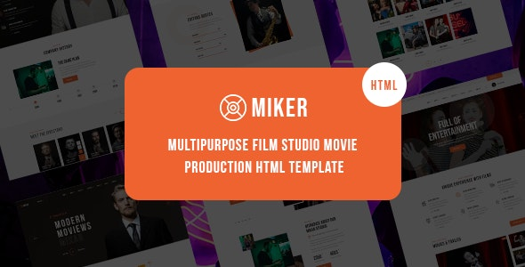 Miker - Movie and Film Studio HTML5 Template - Film & TV Entertainment