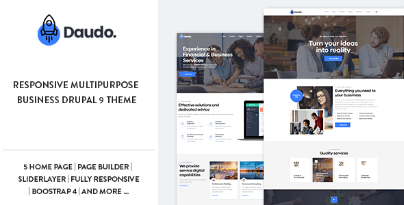 Daudo - Responsive Multipurpose Business Drupal 9 Theme - Business Corporate