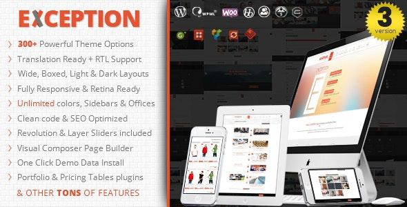 EXCEPTION - Responsive Multi-Purpose WordPress Theme - Corporate WordPress