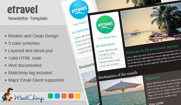Etravel Email  - Newsletters Email Templates