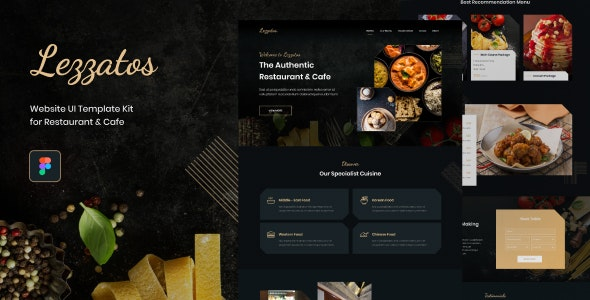Lezzatos | Restaurant and Cafe for Figma - Food Retail