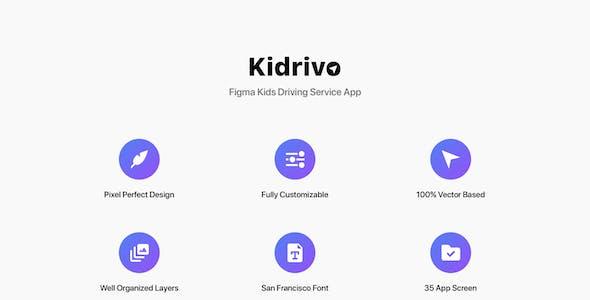 Kidrivo - Figma Kids Driving Service App