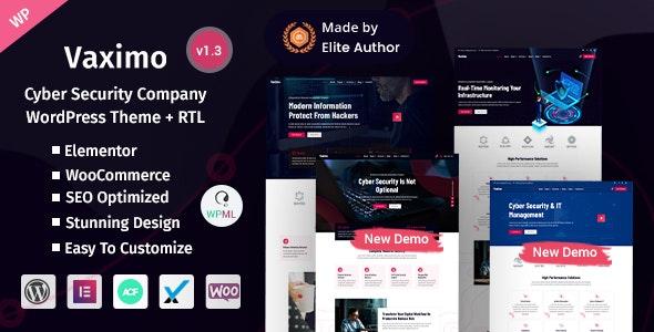 Vaximo - Cyber Security Company WordPress Theme - Technology WordPress