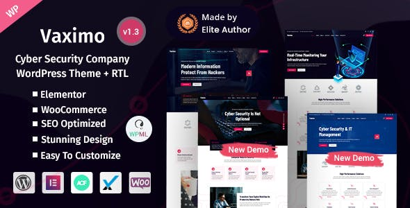 Download Vaximo - Cyber Security Company WordPress Theme