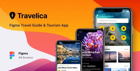 Travelica - Figma Travel Guide & Tourism App