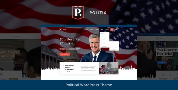Politix - Political Campaign WordPress Theme - Political Nonprofit