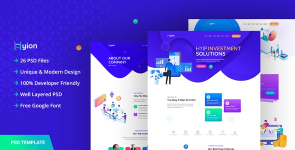 Hyion - HYIP Investment UI Template - Business Corporate