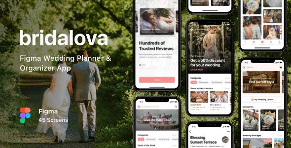 Bridalova - Figma Wedding Planner & Organizer App - Business Corporate
