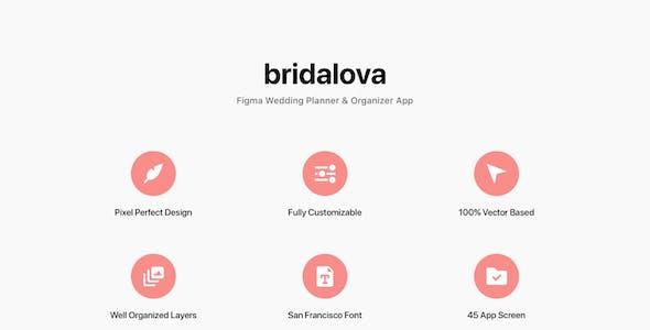 Bridalova - Figma Wedding Planner & Organizer App