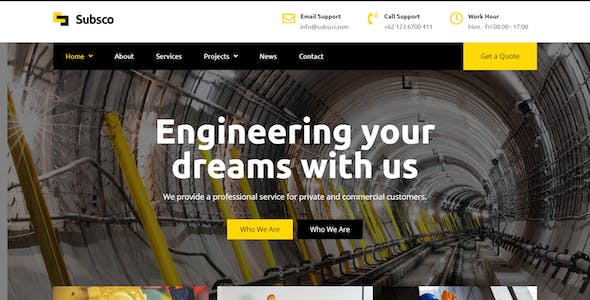 Subsco - Construction Elementor Template Kit