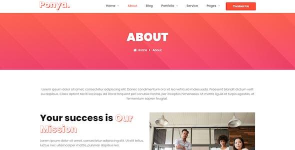 Ponya - Social Media Agency Template Kit