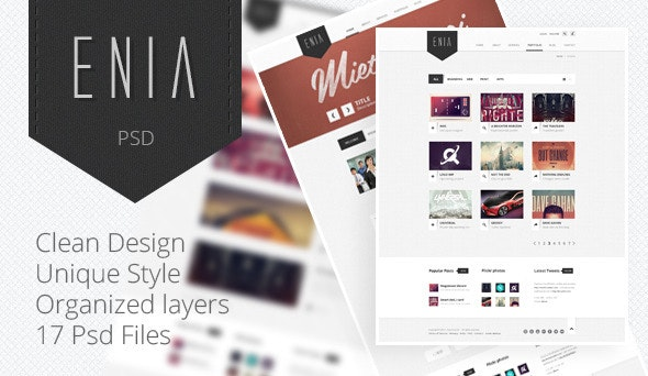 Enia - Professional PSD template - Creative Photoshop