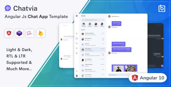 Download Chatvia - Angular Chat App Template