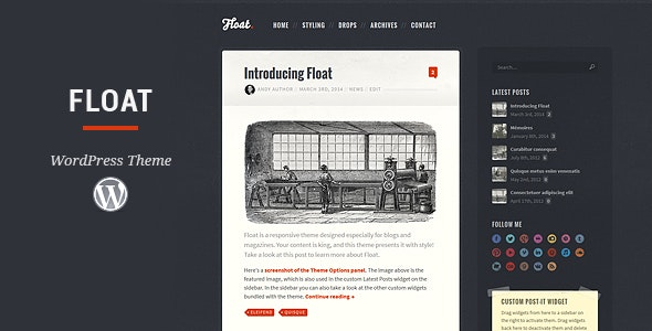 Float WordPress Theme - Personal Blog / Magazine