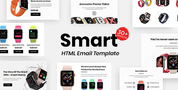 Smart E-commerce - Multipurpose Responsive Email Template 30+ Modules Mailchimp