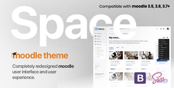 Download Space v1.10.10 | Responsive Premium LMS Moodle 3.5, 3.6, 3.7, 3.8, 3.9+ Theme, based on Bootstrap 4