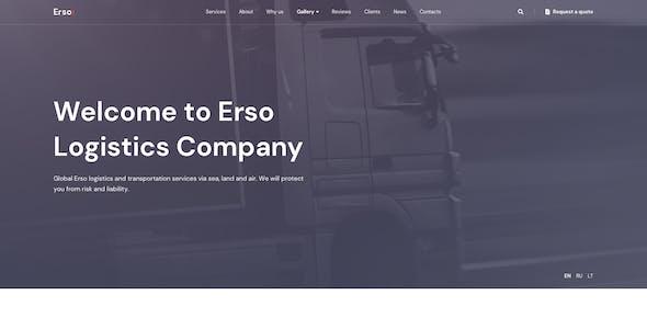 Erso - Logistics & Transportation Figma Template