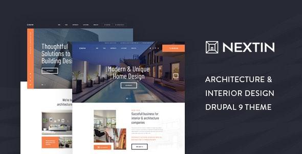 Nextin - Architecture & Interior Design Drupal 9 Theme - Business Corporate