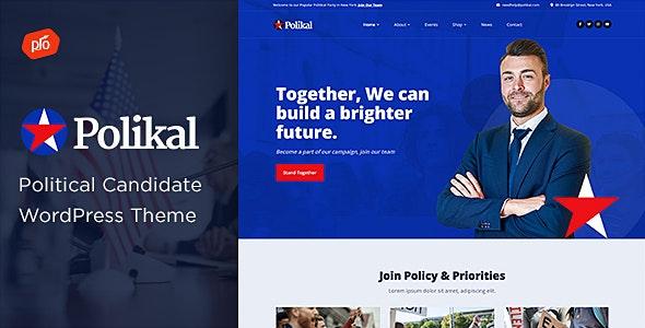 Polikal - Political Candidate & Party Theme - Political Nonprofit