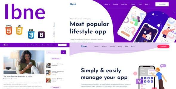 Ibne - App Landing HTML Template