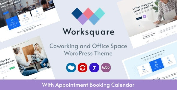 Worksquare - Coworking and Office Space WordPress Theme - Corporate WordPress