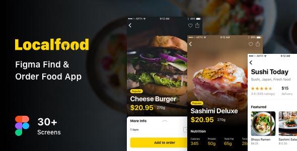 Localfood - Figma Find & Order Food App