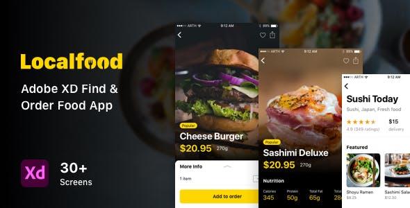 Localfood - Adobe XD Find & Order Food App