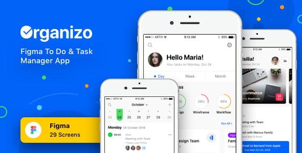 Organizo - Figma To Do & Task Manager App
