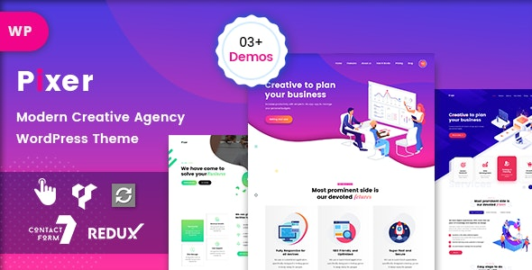 Pixer - Digital Agency WordPress - Portfolio Creative