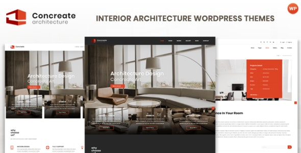 Concreate - Interior Architecture Interactive WordPress Theme - Business Corporate