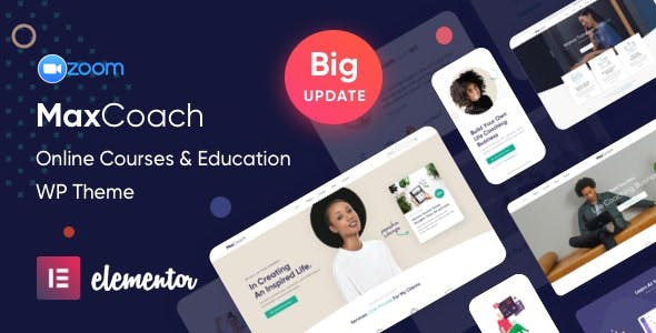 Download MaxCoach - Online Courses & Education Elementor WP Theme