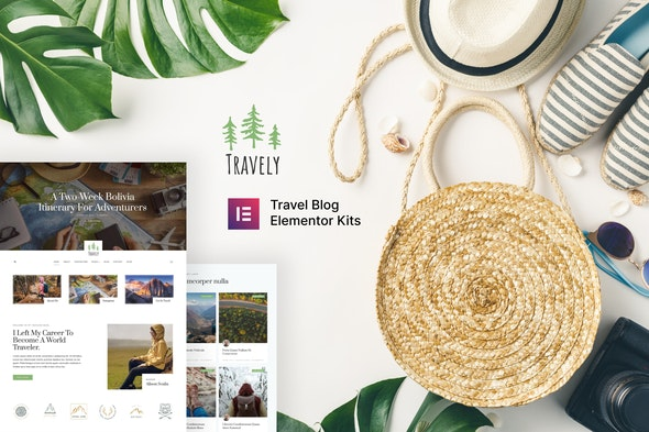 Travely - Travel Blog Template Kit - Blogs & Podcasts Elementor
