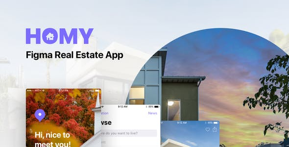 Homy - Figma Real Estate App
