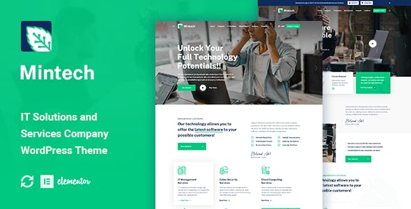 Mintech - IT Solutions & Services WordPress Theme