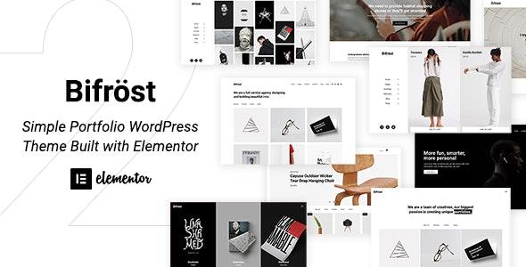 Bifrost - Simple Elementor WordPress Theme - Portfolio Creative
