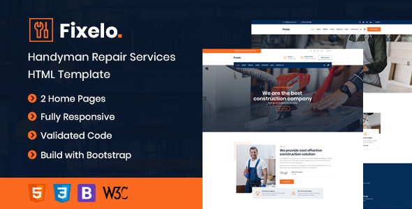Fixelo Handyman Repair Services HTML Template - Business Corporate