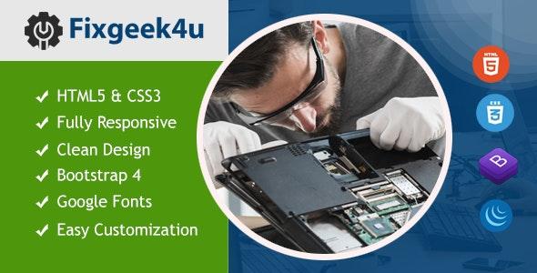 Fixgeek4u - Computer & Mobile Repair HTML5 Responsive Template - Computer Technology